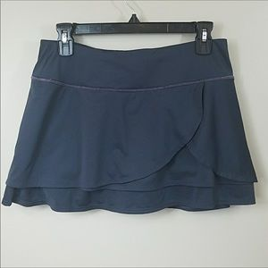 Athlete Dark Gray Layered Skort